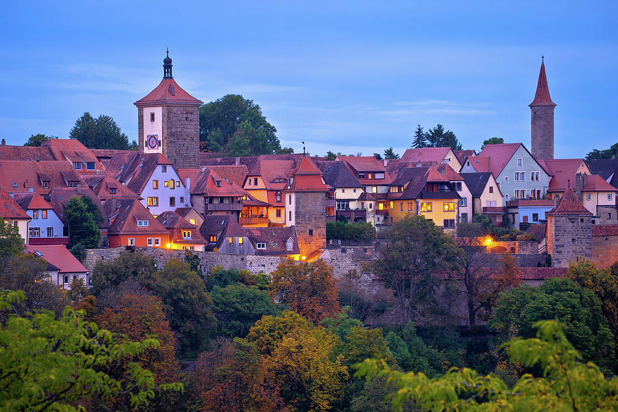 Rothenburg ob der Tauber. Historic town of Rothenburg ob der Tau by Brch Photography