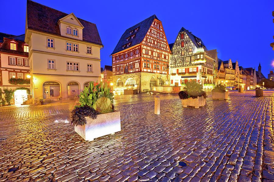 Rothenburg ob der Tauber. Main square or Marktplatz or Market sq by Brch Photography