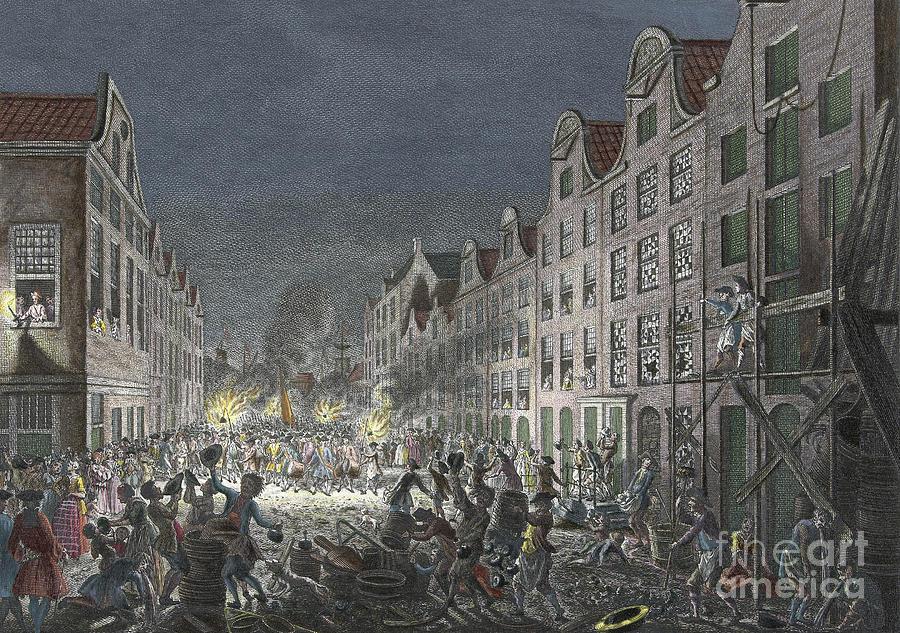 1751 Drawing - Rotterdam Riot, 1751 by Simon Fokke