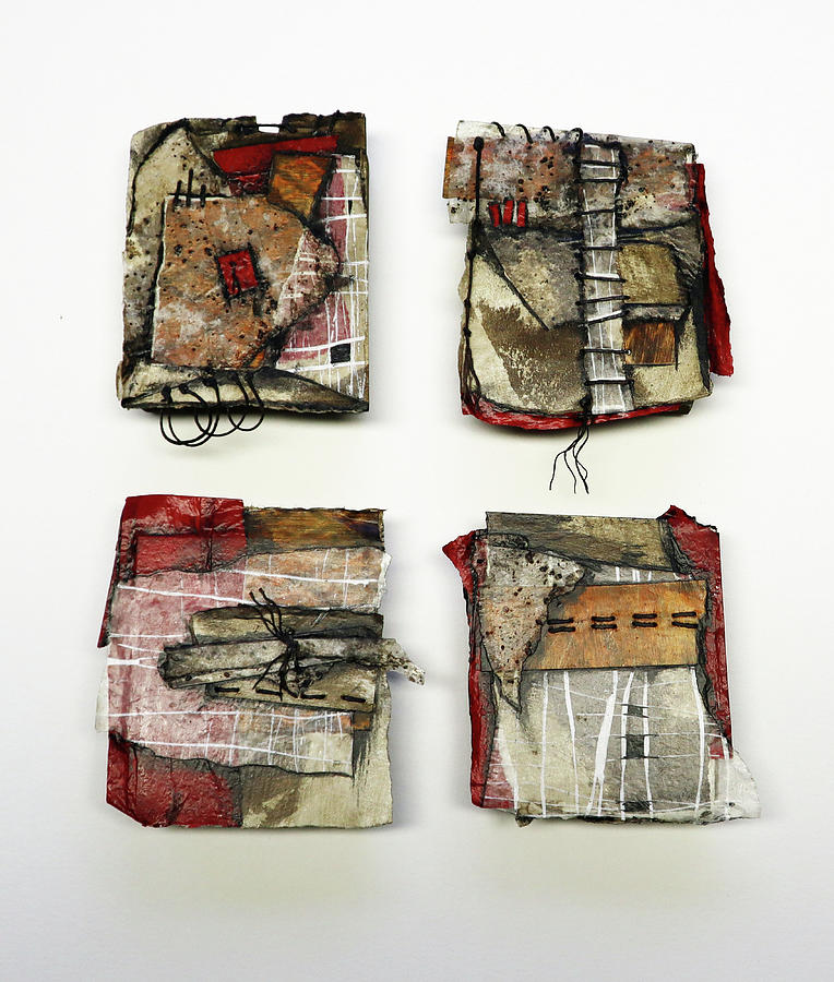 Collage Artwork Mixed Media - Rough As Paper  by Laura Lein-Svencner