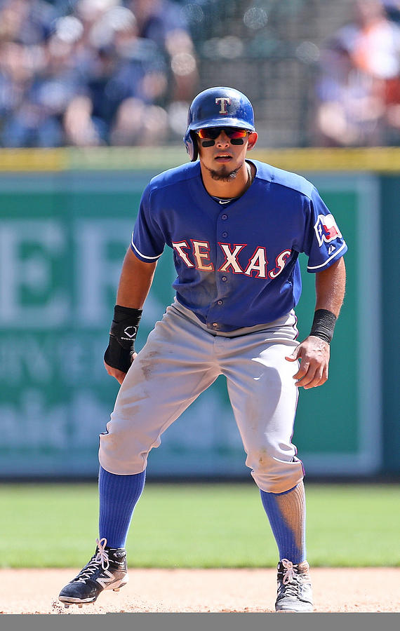 Rougned Odor Photograph by Leon Halip