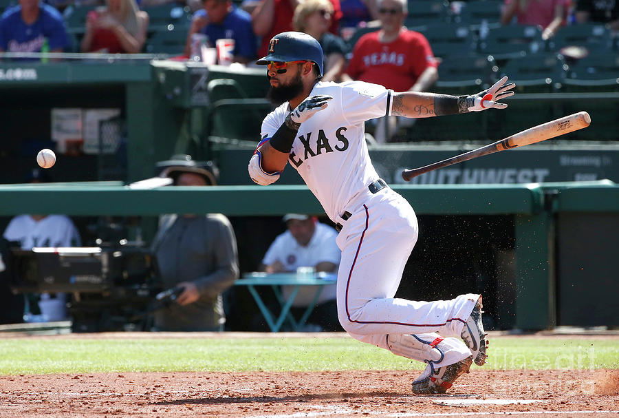Rougned Odor Photograph by Ron Jenkins