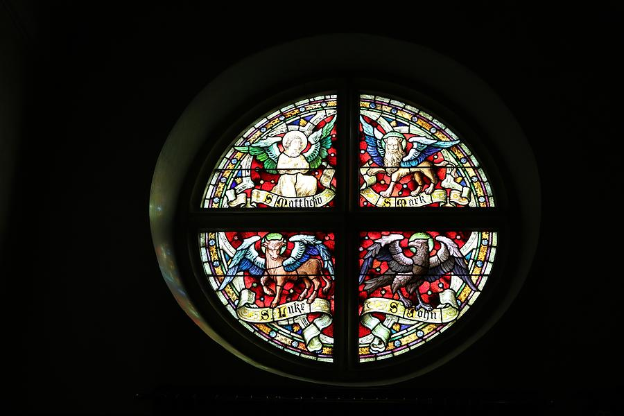 Round Window Of St Peters Photograph