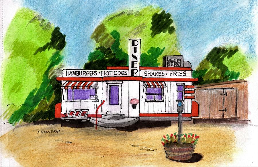 Route 66 Oklahoma Drawing
