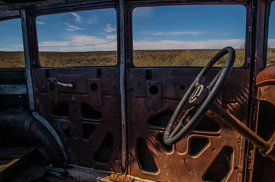Route 66 Rusty Car  by Matthew Irvin