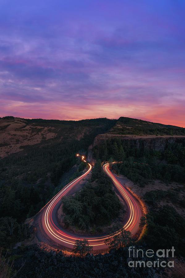 Rowena Crest Photograph - Rowena Crest Horseshoe Bend Sunset  by Michael Ver Sprill