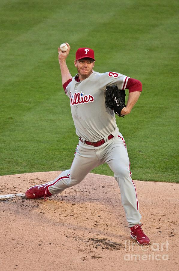 Roy Halladay Photograph by Ronald C. Modra