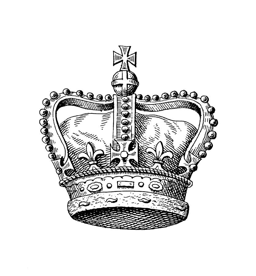 Royal Crown of the United Kingdom   Historic Monarchy Symbols Drawing by NSA Digital Archive