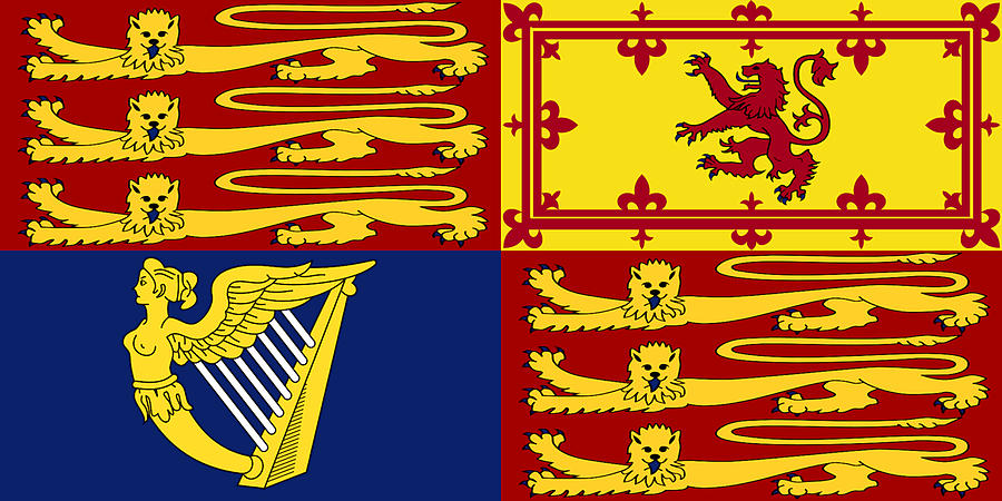 Royal Standard of Great Britain and Northern Ireland by Troy Caperton