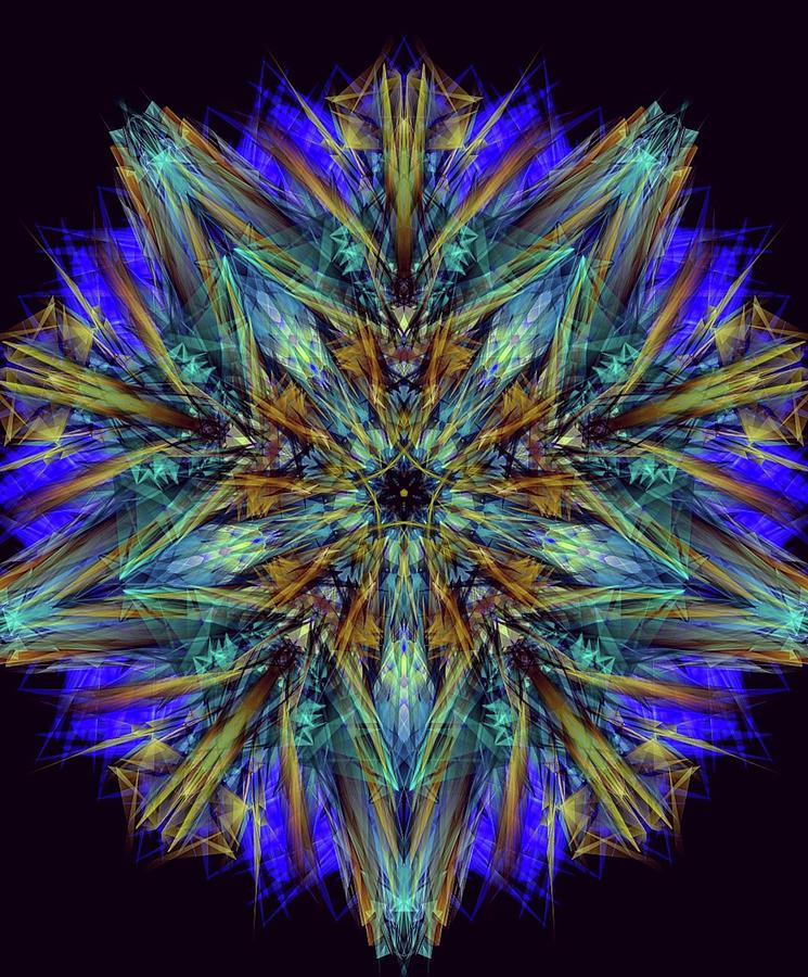 Royalty Diamond Mandala Digital Art