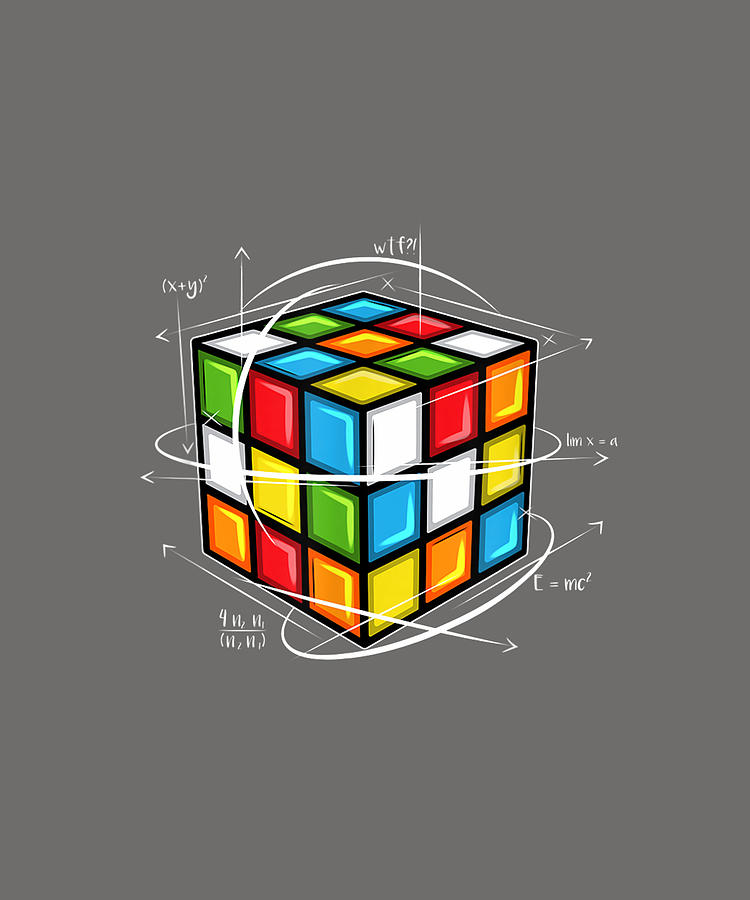 Rubix Cube Melting Rubic Cube For Math Lovers Rubik Cube T Shirt Digital Art By Katie Tholke
