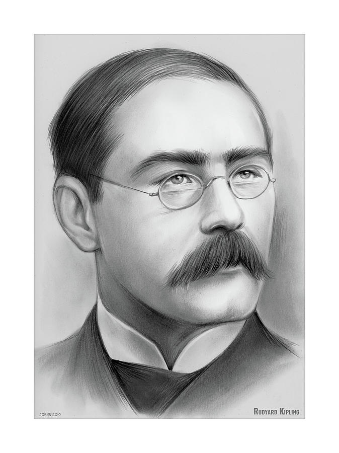 Rudyard Kipling Drawing
