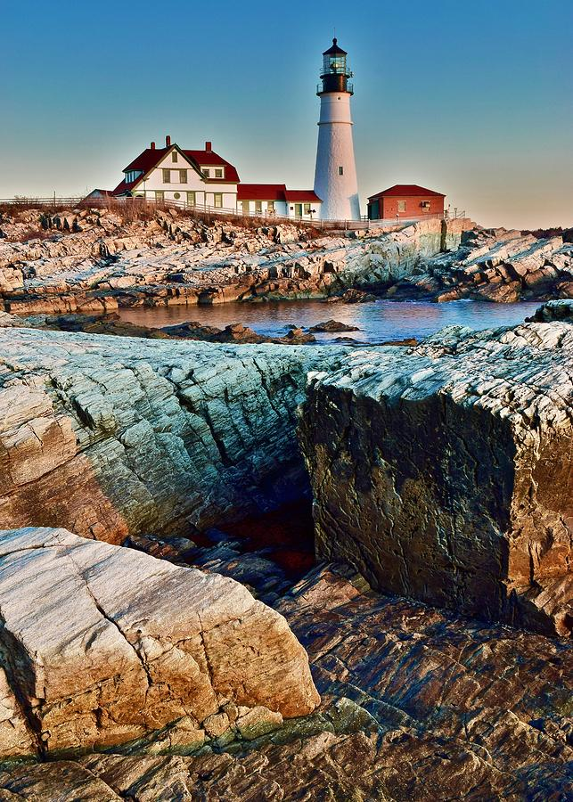 Maine Photograph - Rugged Terrain In Maine by Frozen in Time Fine Art Photography