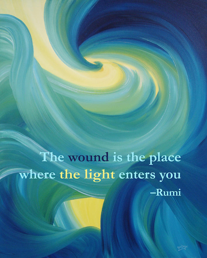 Rumis The Wound Quote On Whirlwind Painting Digital Art