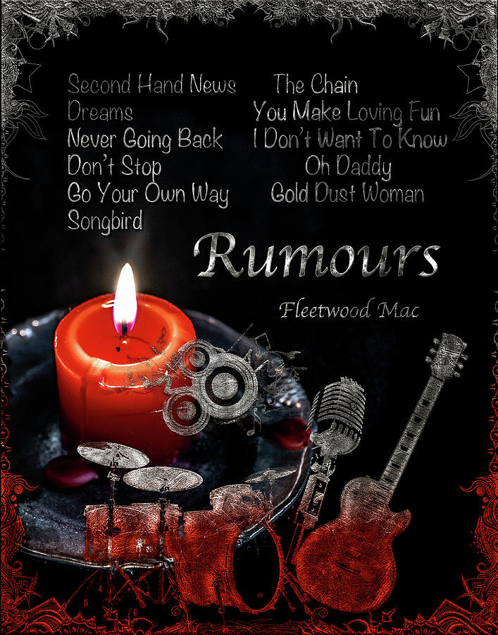 Fleetwood Mac Digital Art - Rumours by Michael Damiani
