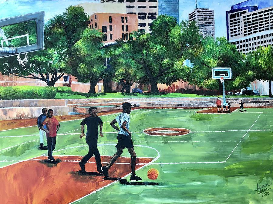 Basketball Painting - Run It Back by Lauren Luna