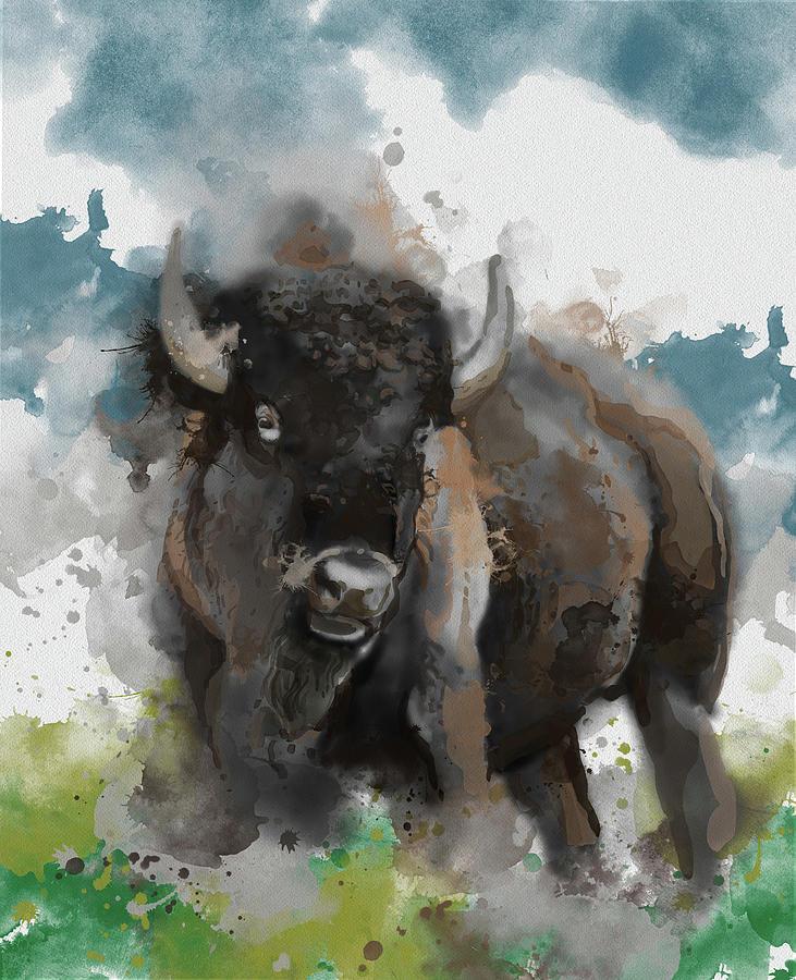 Running Buffalo 2 Digital Art