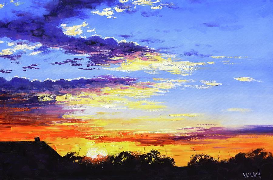 Rural Bush Sunset Painting
