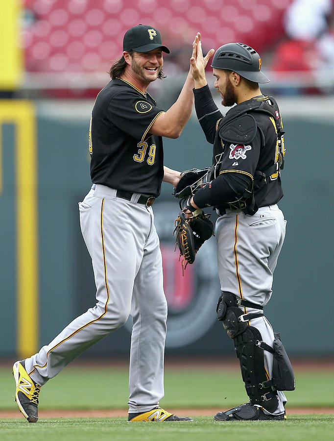Russell Martin and Jason Grilli Photograph by Andy Lyons
