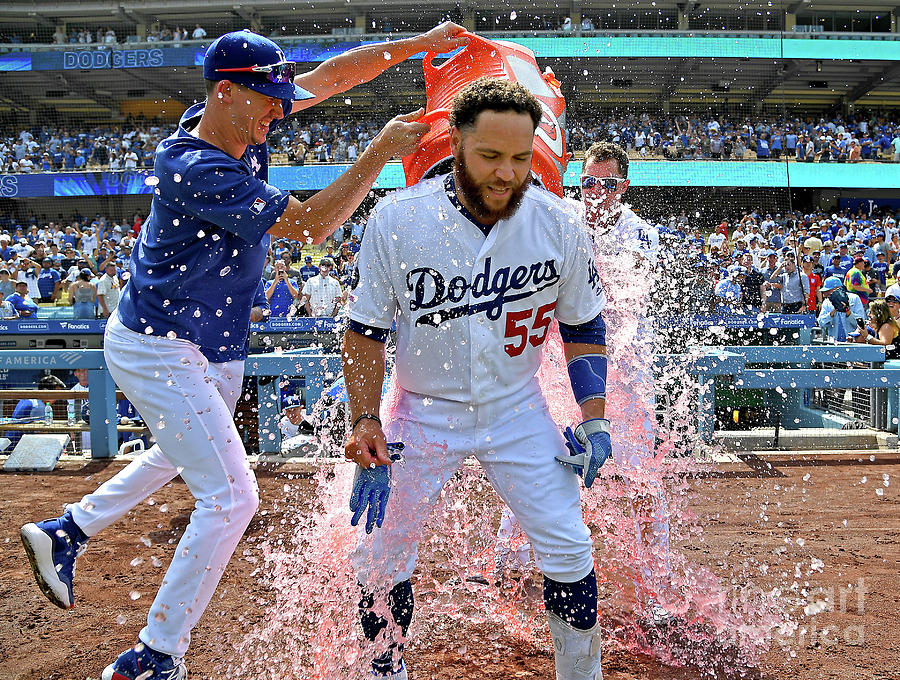 Russell Martin, Walker Buehler, and Joc Pederson Photograph by Jayne Kamin-oncea