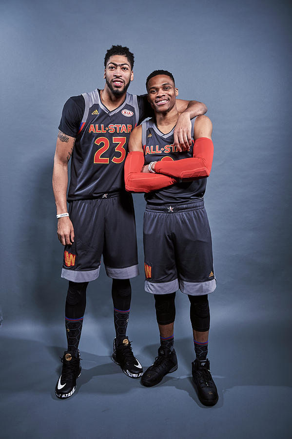 Russell Westbrook and Anthony Davis Photograph by Jennifer Pottheiser