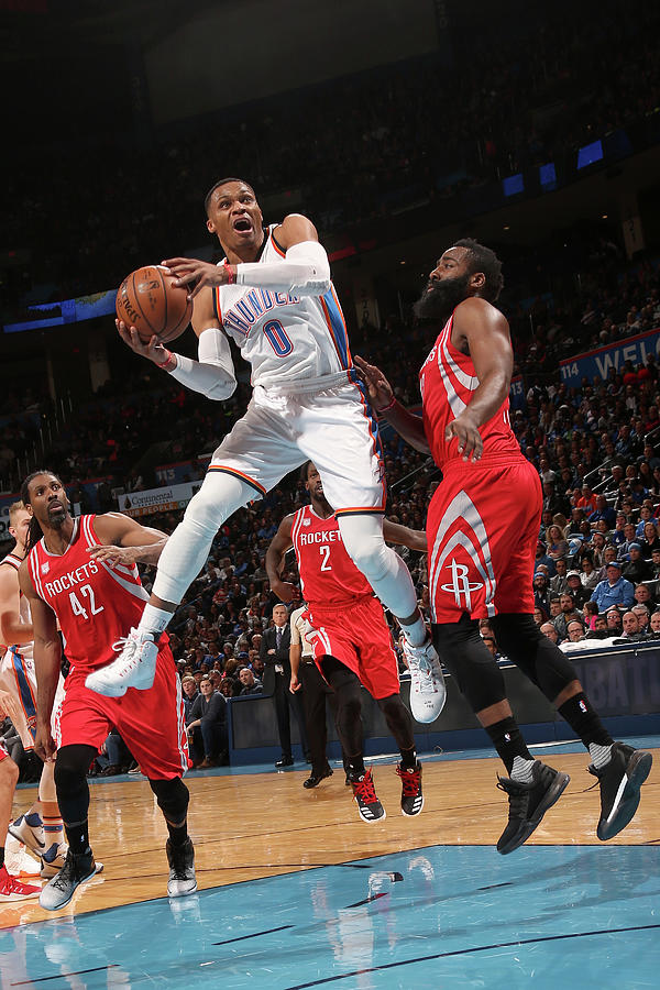 Russell Westbrook and James Harden Photograph by Layne Murdoch