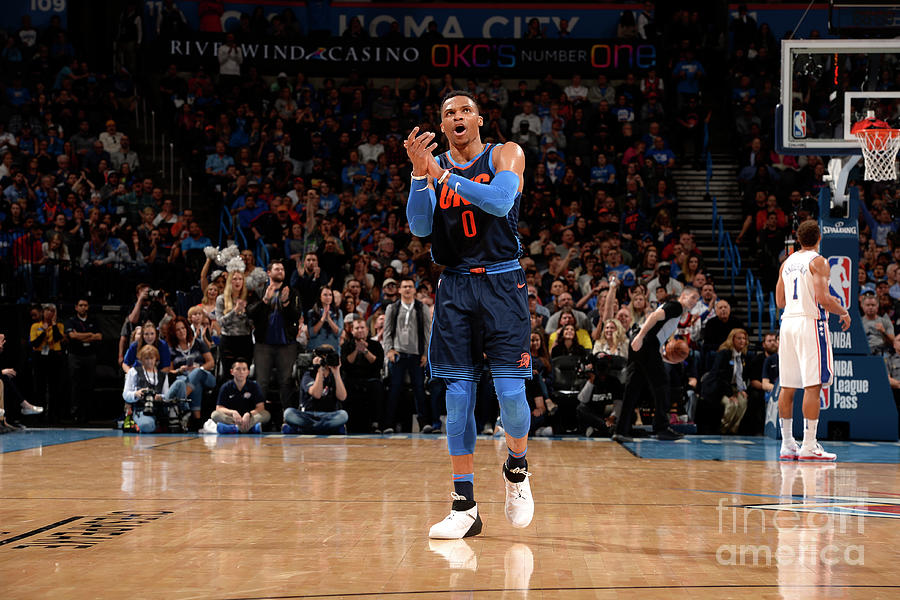 Russell Westbrook Photograph by David Dow
