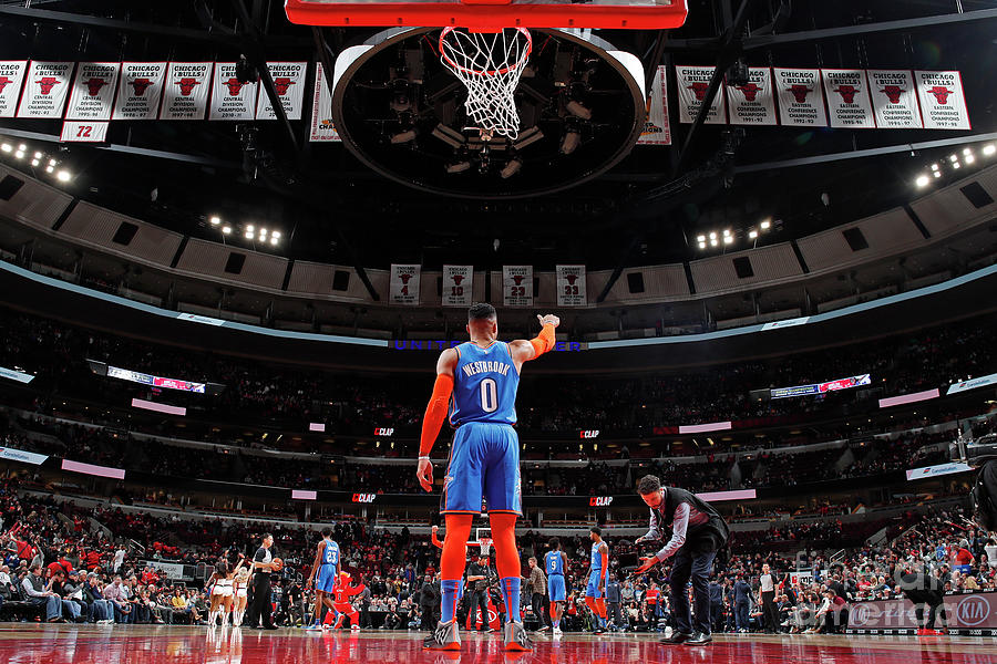 Russell Westbrook Photograph by Jeff Haynes