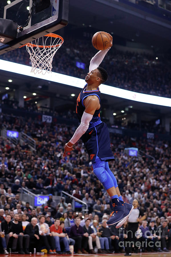 Russell Westbrook Photograph by Mark Blinch