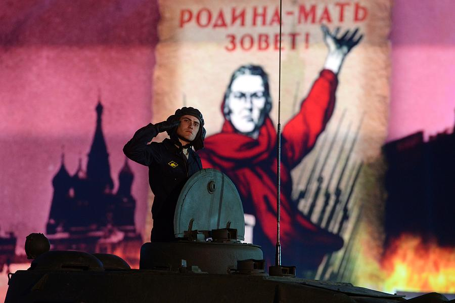 Russia Commemorates 70th Anniversary Of Victory Day Photograph by Handout