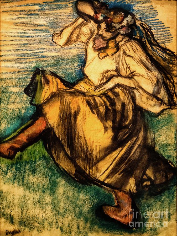 Russian Dancer 1899 by Degas by Edgar Degas