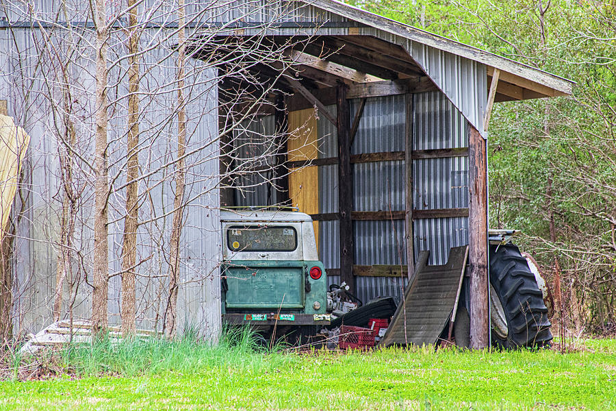 Rustic Barn With Derelict International Scout Photograph