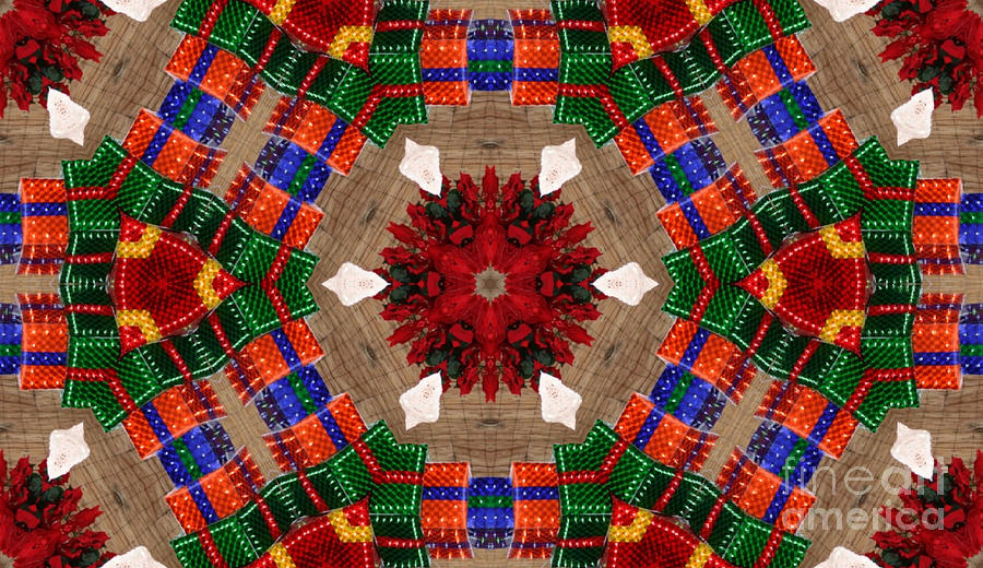 Rustic Christmas Abstract by Tracy Ruckman