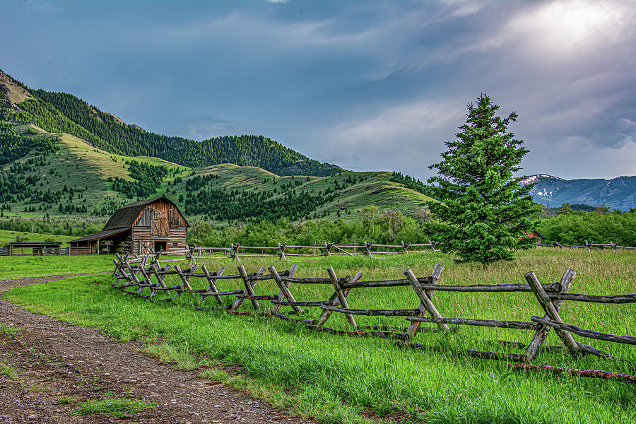 Rustic Montana Ranch by Douglas Wielfaert