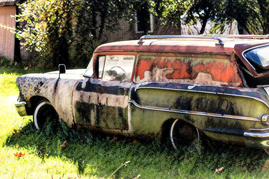 Rusty Chevy Belair by Cathy Anderson