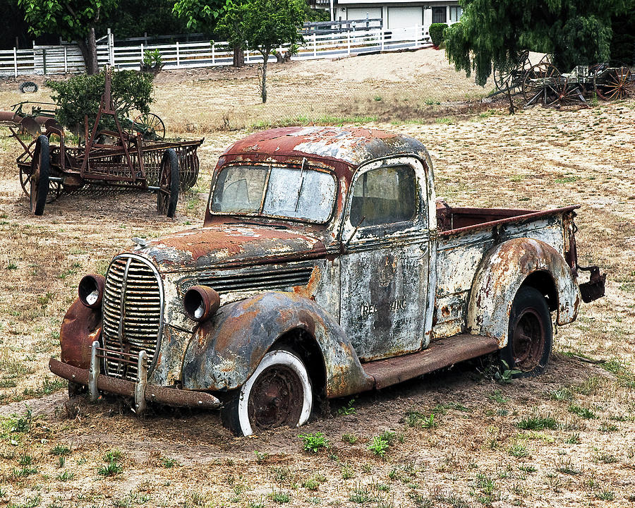 1940/'s Rusty Old Ford Pickup Photographic Print Photography Photographic Print