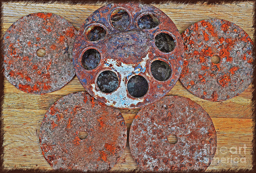 Rusty Metal Objects 2 Photograph by Debbie Portwood