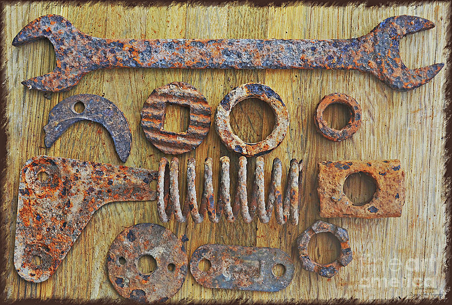 Rusty Metal Objects 6-1 Photograph by Debbie Portwood
