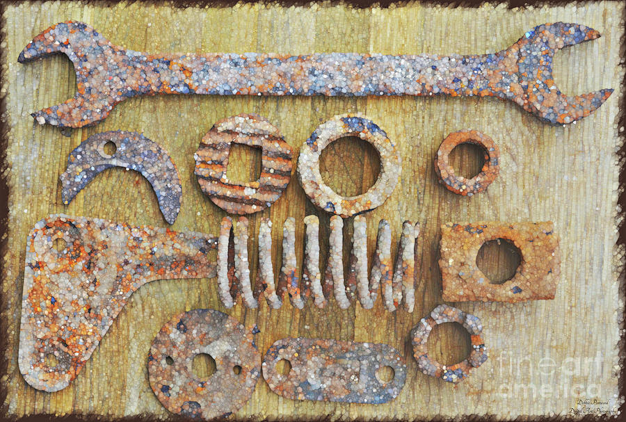 Rusty Metal Objects 6-4 Photograph by Debbie Portwood