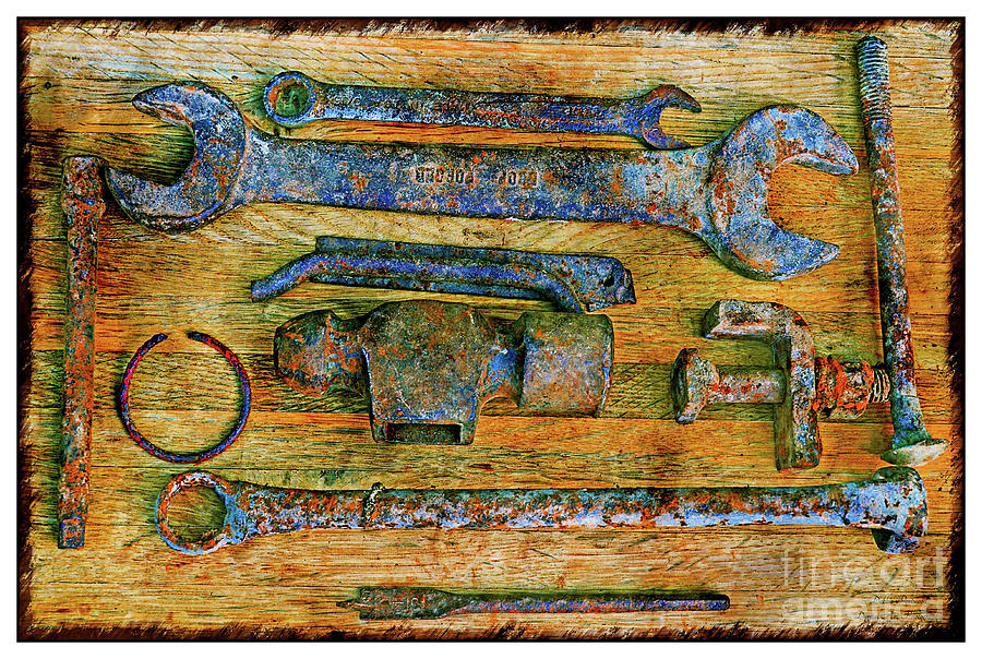 Rusty Metal Objects 7-2 Photograph by Debbie Portwood