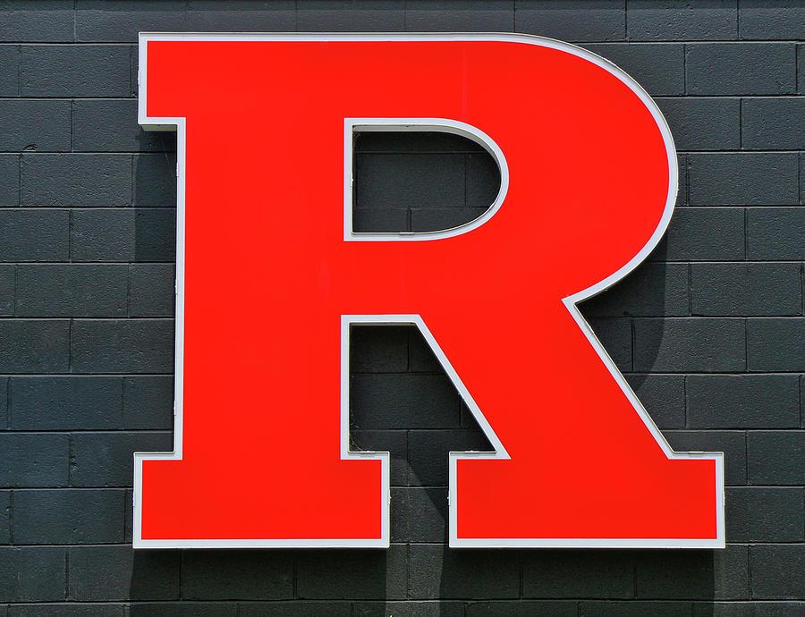 Rutgers Block R Photograph