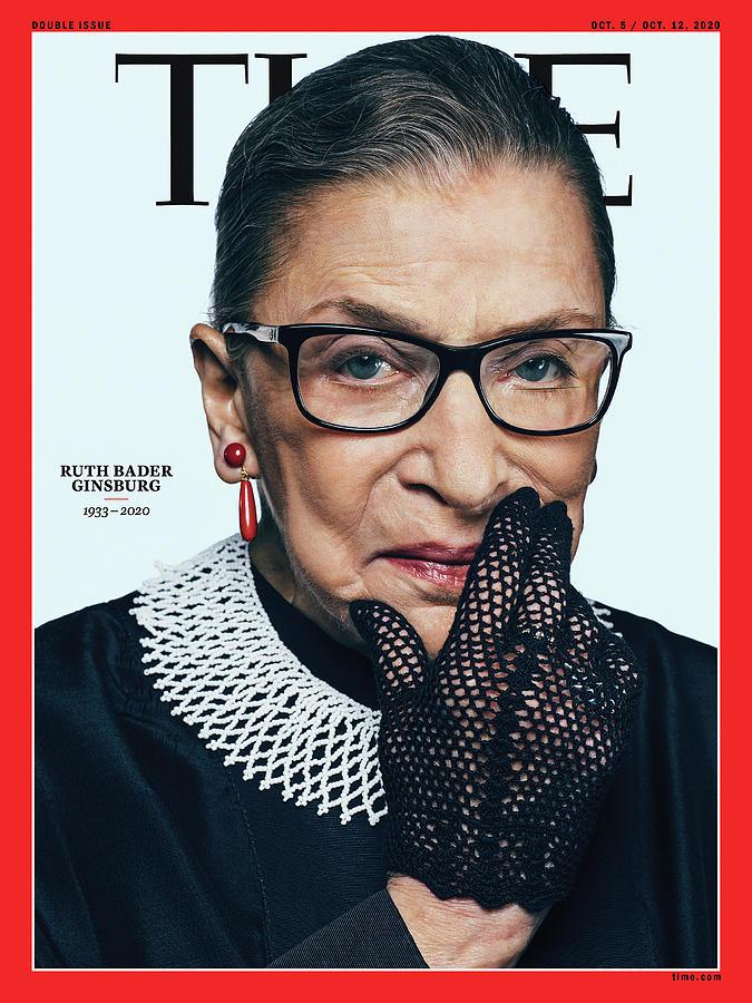 Ruth Bader Ginsburg Photograph - Ruth Bader Ginsburg 1933-2020 by Photograph by Sebastian Kim--AUGUST for TIME