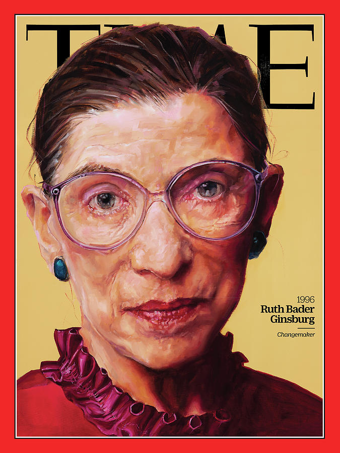 Time Photograph - Ruth Bader Ginsburg, 1996 by Painting by Shana Wilson for TIME