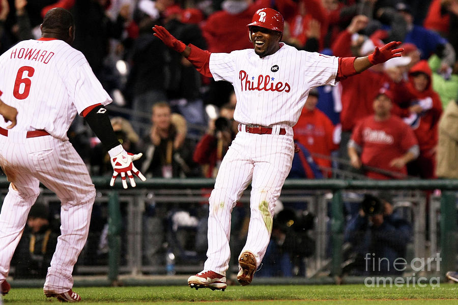 Ryan Howard and Jimmy Rollins Photograph by Nick Laham