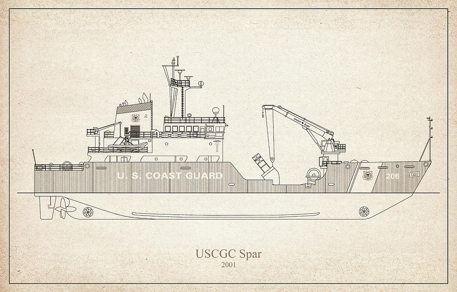 s02 - United States Coast Guard Cutter Spar wlb-206 by JESP Art and Decor
