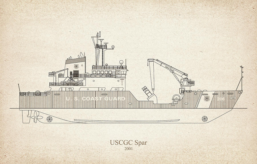 s03 - United States Coast Guard Cutter Spar wlb-206 by JESP Art and Decor