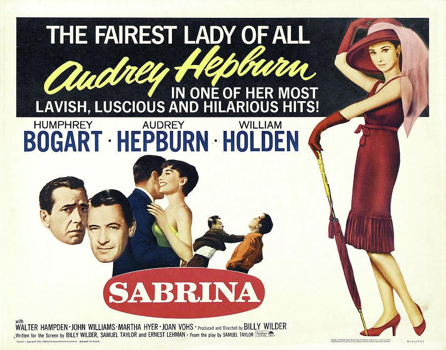 sabrina -3, With Audrey Hepburn, 1954 Mixed Media