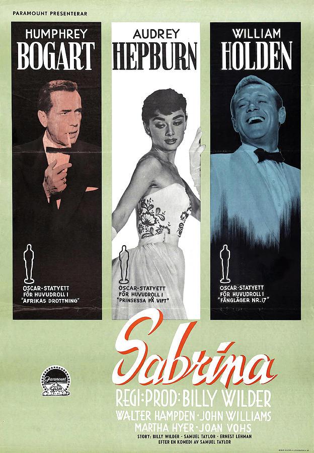 sabrina B, With Humphrey Bogart And Audrey Hepburn, 1954 Mixed Media