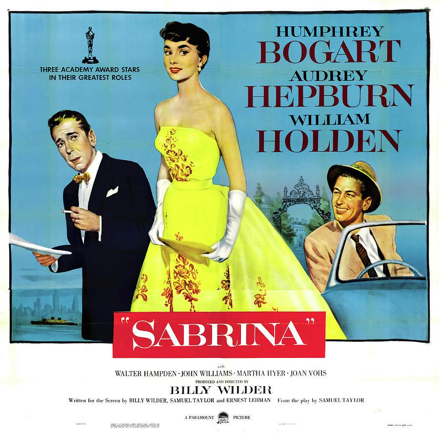 sabrina With Humphrey Bogart And Audrey Hepburn, 1954 Mixed Media