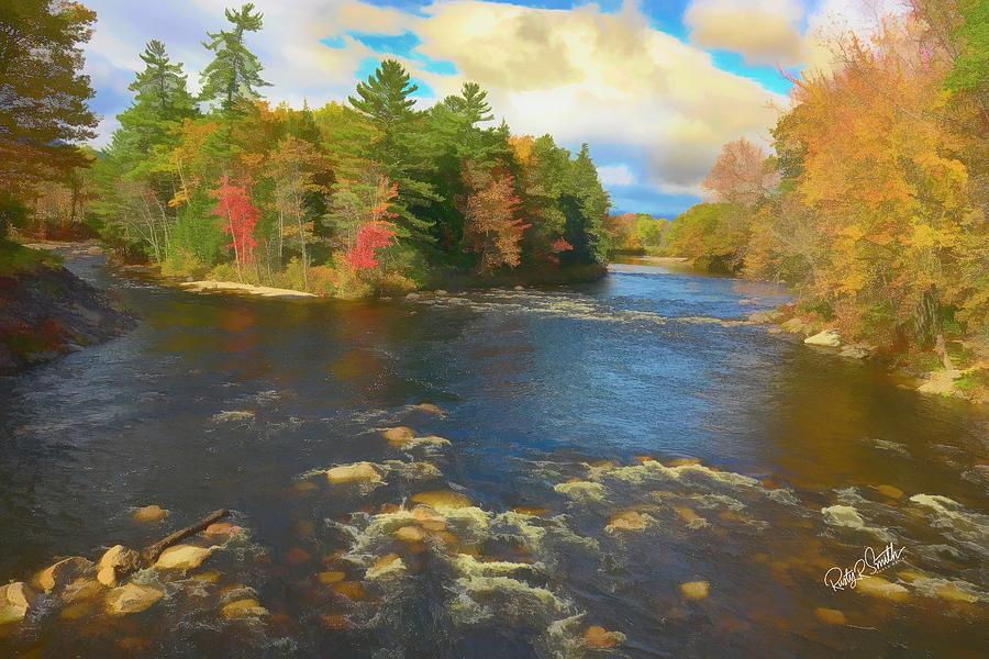 Saco River in Northern New Hampshire. by Rusty R Smith